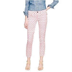 J. Crew Cropped Matchstick Patterned Jeans